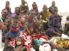 Turkana Women in Kenya. Less than half of all Kenyan women give birth in a medical facility.  Credit: Isaiah Esipisu/IPS
