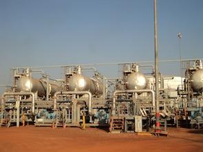 Oil storage facilities at Bentiu, Unity State, South Sudan.  Credit: Charlton Doki/IPS