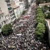 Demonstrations against austerity measures in Athens in May 2010. Credit:  Nikos Pilos/IPS
