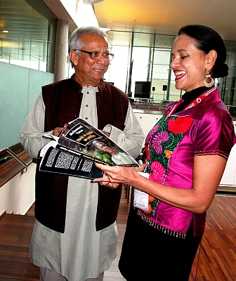 Microcredit pioneer Muhammad Yunus at Valladolid. Credit: Raquel Martines/IPS