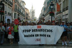 """Indignados"" protesting home repossessions in Málaga. Credit: Inés Acosta/IPS"