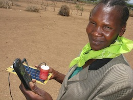 In pastoralist communities, mobile phones are crucial for alerting communities to droughts and reducing food insecurity.  Credit: Isaiah Esipisu/IPS