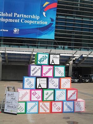 Achieving MDGs through effective aid.  Credit: Miriam Gathigah/IPS