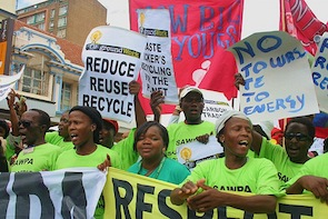 Protesters said it was time for climate change negotiators to listen to the voices of ordinary people.  Credit: Zukiswa Zimela