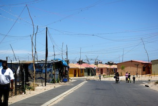 South Africa's first eco-friendly and energy efficient low-income housing development in Atlantis.  Credit: Lee Middleton/IPS