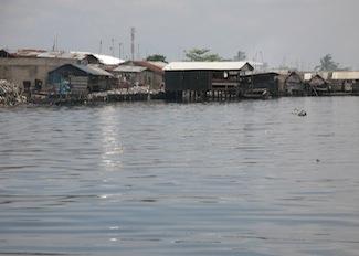 In Ajegunle, a low-lying slum in Lagos, flooding is also disrupting the economic activities of women Credit: Sam Olukoya/IPS