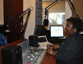 Radio Zibonele began broadcasting under the bed of a shipping container truck in 1995.  Credit: Davison Mudzingwa/IPS