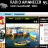 Web site of the Amanecer radio station in Caldera, Chile.  Credit: Courtesy Radio Amanecer