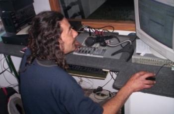 Community radio operator at La Cotorra. Credit: Courtesy of La Cotorra FM