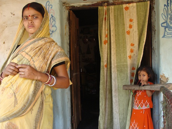 """A pregnant mother and her daughter in the rural Purulia district of West Bengal state in India struggle against the country's """"son preference"""" Credit:  Sujoy Dhar/IPS"""