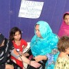 At a mobile hospital camp Credit: Ashfaq Yusufzai/IPS