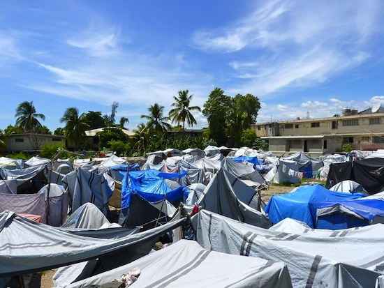 A lack of long-term housing plans in Haiti's post-earthquake tent cities made the refugees even more vulnerable to natural disasters. Credit:  Ansel Herz/IPS