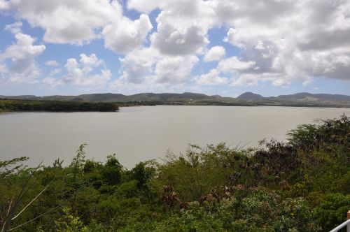Potworks Dam is the largest freshwater lake in Antigua, holding about one billion gallons of water. Credit: Desmond Brown/IPS