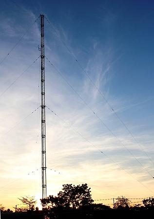 DZUP radio's tower reaches communities outside the Philippines university campus.  Credit: Kara Santos/IPS