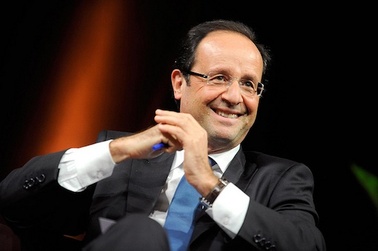 """Francois Hollande, a frontrunner in the upcoming French presidential election, claims his """"real political adversary is the world of finance."""" Credit:  Jean-Marc Ayrault/CC-BY-2.0"""