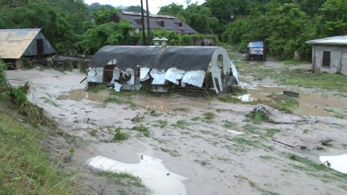 In 2011, flooding and landslides due to unseasonable intense rainfall caused in excess of 100 million dollars in damage. Credit: Courtesy of the Sun Newspaper in Dominica