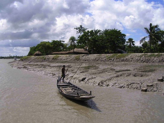The Indian Sundarbans face dire threats from climate change including rapid soil erosion and a massive loss of livelihood. Credit:  Sujoy Dhar/IPS
