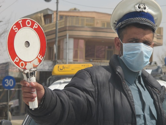 As foreign troops trickle out of Afghanistan, local police or private security contractors have filled the gaps in Kabul. Credit:  Giuliana Sgrena/IPS