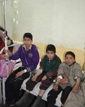Haemophiliac children receive treatment at Srinagar hospital. Credit:  Sana Altaf/IPS