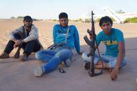 Young militia members in Kufra. Credit: Rebecca Murray/IPS.