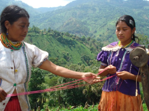 Two indigenous women in Guatemala. Indigenous peoples around the world are fighting to protect their rights and cultures. Credit: Danilo Valladares/IPS