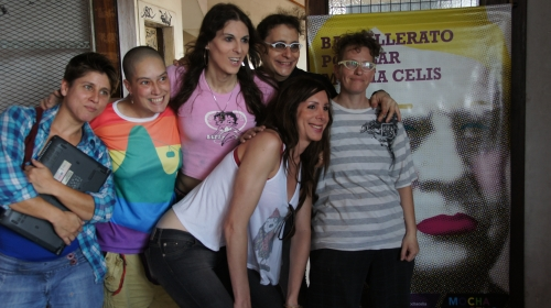 """Students at a new secondary school in Buenos Aires that caters to members of sexual minorities. Credit: Courtesy Bachillerato Popular """"Mocha Celis"""""""