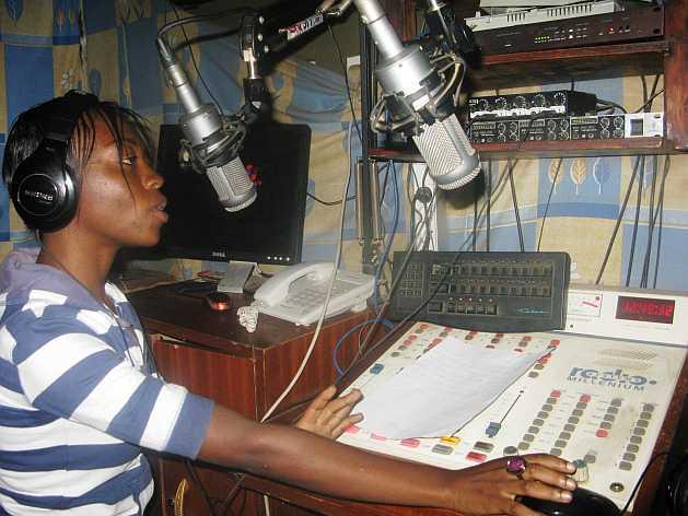Nancy Mweu, of Pamoja Radio, says she has been able to change the lives of women through her radio programme. Credit: Isaiah Esipisu/IPS