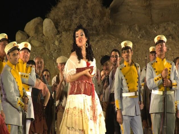 A performance of 'Carmen' at the Masada Fortress in the Israeli desert.Pierre Klochendler/IPS.