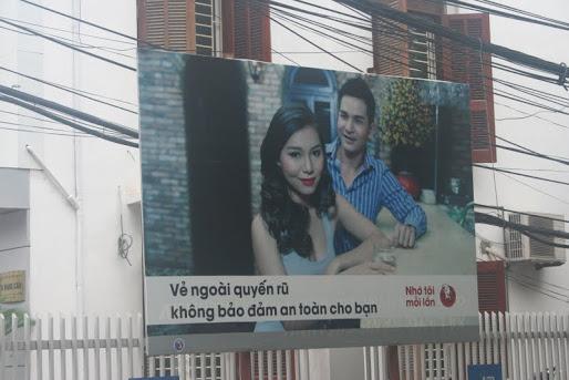 A condom ad in Hanoi. Credit: Natalie Callaghan