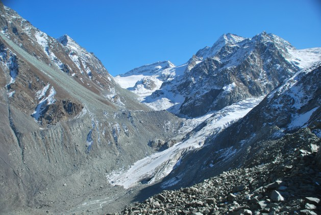 Kashmir's Kolhai glacier has been receding steadily. Credit: Athar Parvaiz/IPS