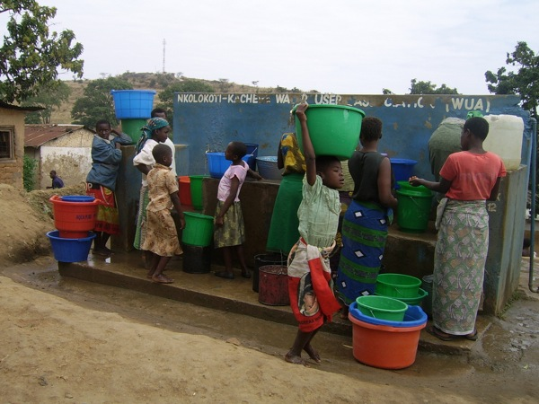 Women in Africa spend 200 million hours collecting water. Credit: Charles Mpaka/IPS