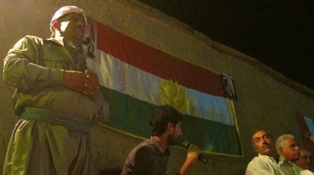 A meeting of the Kurdistan Democratic Party of Syria in Darna town. Credit: Karlos Zurutuza/IPS.