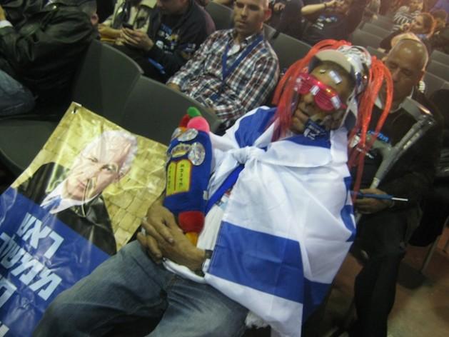 A Likud-Beitenu supporter. Credit Pierre Klochendler/IPS.