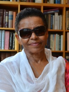 Bogaletch Gebre, a women's empowerment activist, in her signature sunglasses. Credit: Lucy Westcott/IPS