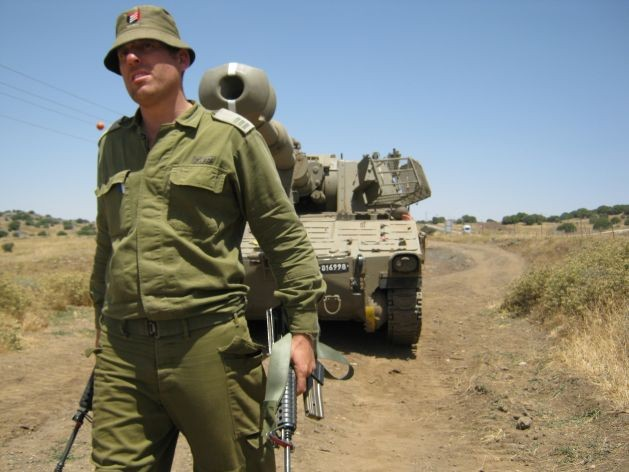 An Israeli patrol on the border with Syria. Credit: Pierre Klochendler/IPS.
