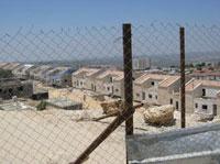 A new neighbourhood under construction in Ariel settlement. Credit: Pierre Klochendler/IPS.