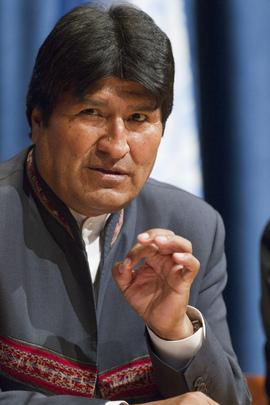 Bolivian President Evo Morales. UN Photo/Rick Bajornas