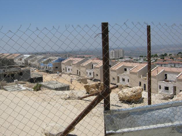 A new neighbourhood under construction in the West Bank's Ariel settlement. Credit: Pierre Klochendler/IPS