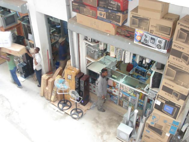 Dar es Salaam's Kariakoo market, where counterfeit goods are big business.  Credit: Sarah McGregor/IPS