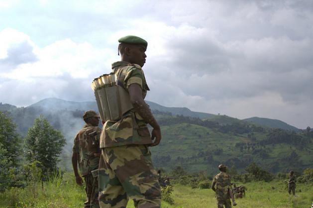 M23 rebels near Sake, Eastern DR Congo. Credit: William Lloyd-George/IPS