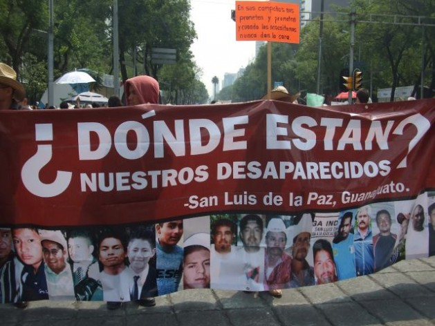 Mothers of the disappeared march in central Mexico City in May 2012. Credit: Daniela Pastrana/IPS