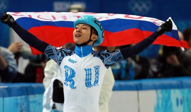 South Korean born Russian athlete Viktor Ahn wins gold at the Sochi Olympics. Credit: Yonhap News Agency/IPS.