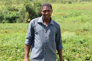 Erasmo Laldás on his strawberry farm in Naamacha, Mozambique. Credit: Amos Zacarias/IPS