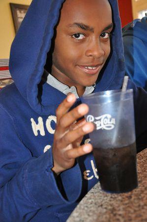 Advertising by the sweetened beverage industry often targets children. Credit: Judith Scherr/IPS