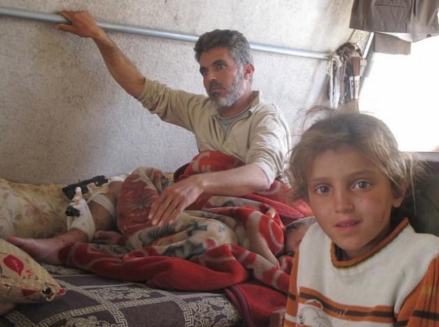 IDPs in Jabal Al-Akrad, in Syria's Latakia region. Credit: Shelly Kittleson/IPS