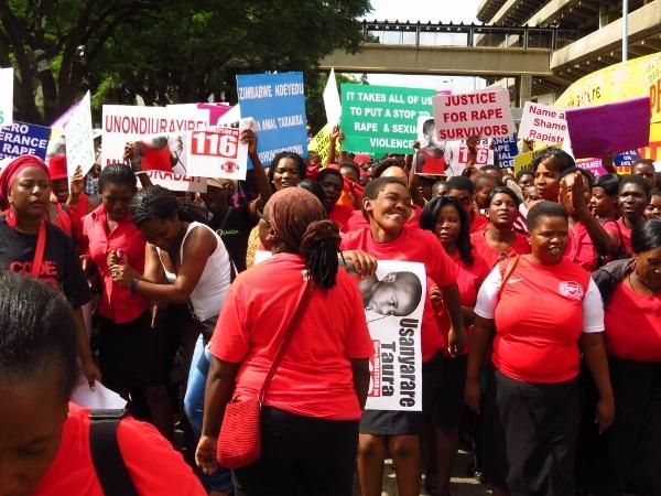 Demonstration Against Sexual Violence in Harare. Credit: Katswe Sistahood/IPS