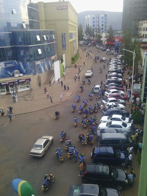 Commercial Street avenue in Kigali's city centre, Rwanda. Credit: Aimable Twahirwa/IPS