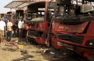 Boko Haram's latest bomb attack in Nigeria's capital, Abuja, on Apr. 14, 2014, claimed 75 lives. Courtesy: Mohammed Lere