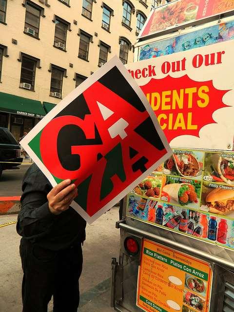 Roadside vendors joined a massive protest on Friday, Jul. 25, that snaked through lower Manhattan. Credit: Kanya D'Almeida/IPS