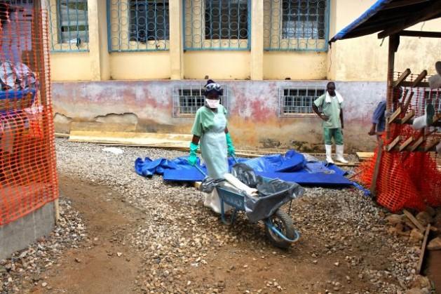 Scene from an Ebola treatment facility run by Médecins Sans Frontières (MSF) in Guéckédou, Guinea. Credit: UN Photo/Ari Gaitanis